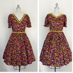 IN THE SHOP Vintage 1960s Handmade Neon Floral Retro Dress (34/25/free) http://ift.tt/1lP6fC1