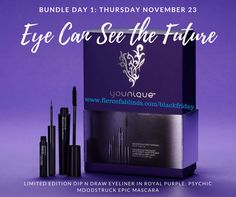 Day 1 of 8 Days of Gifts! Younique Black Friday, Small Business Saturday and Cyber Monday cover more than a week of exclusive deals and products!