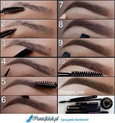 Idealne brwi - zobacz jak je zrobić krok po kroku! :)