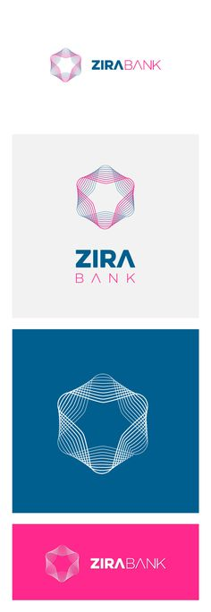 Zira Bank Logo, for Cryptocurrency concept mobile app (silverdesk.com)