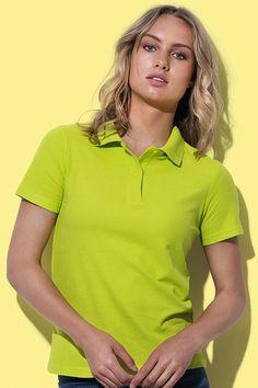 Tricou polo damă Stedman din 100% bumbac. La cerere, acest tricou polo se poate broda sau imprima cu logo-ul sau mesajul dorit. #tricouri #polo #dama #personalizate #broderie #serigrafie Polo Shirt, Polo Ralph Lauren, Athletic, Mens Tops, Jackets, Shirts, Fashion, Embroidery, Down Jackets