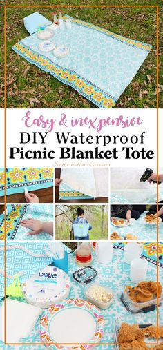 A picnic is such a fun way to share a meal and I've got easy picnicking down to a science. :) Being prepared is key and this easy-to-make and inexpensive DIY picnic blanket tote is the first step. The next step is having your supplies at the ready. You can keep it all in this picnic blanket tote in the back of your car or by the door so the only thing to do is pack or pick up lunch or dinner and you can have an al fresco meal anytime! #DixieSummerDG @DollarGeneral @DixieProducts #ad