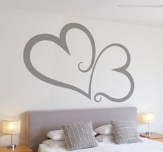 Beautiful wall sticker of heart for put your room with romantic environment! #heart #wallsticker #romantic