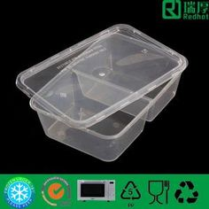 Plastic with 2 compartments