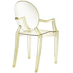 Buy online Louis ghost By kartell, stackable polycarbonate chair design Philippe Starck, ghost Collection Philippe Starck, Sillas Louis Ghost, Acrylic Dining Chairs, Ghost Chairs, Transparent Design, Kids Seating, Dining Arm Chair, Desk Chair, Shopping
