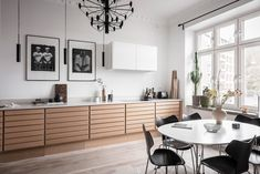 A Scandinavian Apartment with Earthy Color Details - The Nordroom Kitchen Inspirations, Wooden Kitchen, House Design, Apartment Design, Home, Earthy Colors, Mediterranean Home, Scandinavian Apartment, White Wood