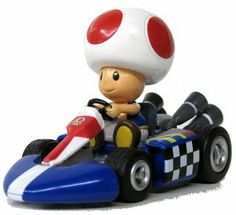 "Nintendo Mario Kart Wii Pull-Back Car Version 2 Mini Figure - 3"" Toad (Japanese Import) by Nintendo. $8.99. Approximately 3 inches in length, 1.5 inches in height. Official licensed product imported directly from Japan. Complies with Japan Safe Toy Standard. Collect all 6 figures in the series: Mario, Princess Peach, Yoshi, Bowser, Toad, Donkey Kong. Rare collectable only available from Japan. Get yours soon before supplies run out!. High quality mario kart pull back car..."