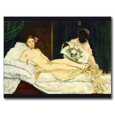 Olympia by Edouard #manet #postcard