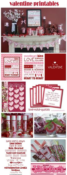 Tons of Valentine ideas and printables!