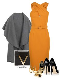 Sin título #1581 by asunvitoria on Polyvore featuring polyvore, fashion, style, Gucci, Jimmy Choo, Versus, Tory Burch, Fendi, Lauren Ralph Lauren and clothing