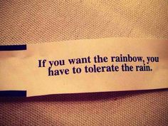 If you want rainbows ...