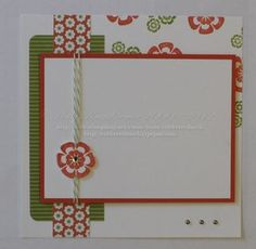 Adorable 6x6 page with Betsy's Blossoms & Floral District dsp. Thanks Holly!