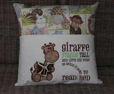 Child S Cushion With Reading Book Pocket Pocket Pillow