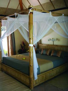 Typically, you're going to want a canopy bed which you have purchased from a furniture shop. Many years back, a canopy bed proved to be a functional product. Or if you previously have that royal canopy bed and need some… Continue Reading → Canopy Bed Curtains, Canopy Bed Frame, Bamboo Furniture, Bedroom Furniture, Cheap Furniture, Luxury Furniture, Bamboo Bed Frame, Bamboo House Design, Diy Bett