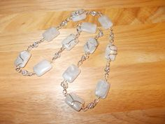 Grey agate wire work and chainmaille necklace £12.00