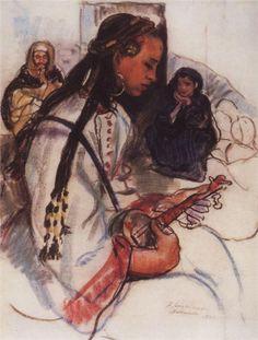 Boy musician, 1928 Zinaida Serebriakova