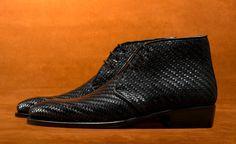 Raphael woven mesh leather chukka boot by Antonio De Torres. MTO and RTW.