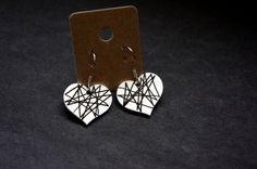 Heart Shrink Plastic Earrings by Cyclop on Etsy, $14.00