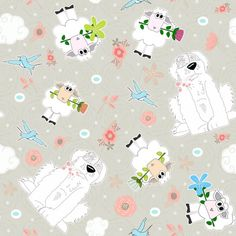 Spoonflower Fabric of the week voting: Ditsy sheep
