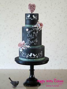 Chalkboard / Blackboard Cake Project | Pretty Witty Cakes