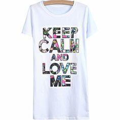29,90EUR T-Shirt weiss Keep calm bunt