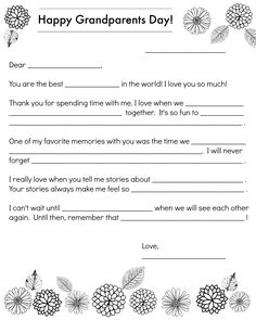 A Note to Grandparents for Grandparents Day Show grandparents that kids care with this special note.
