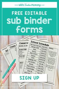 Be ready at a moment's notice with emergency sub plans! Get started for FREE with these easy prep resources, including editable binder cover and forms, sub punch cards for student behavior, thank you cards to leave for the sub, and lesson plans. Sub Binder, Kindergarten Lesson Plans, Kindergarten Classroom, Classroom Ideas, Teacher Lesson Plans, Classroom Freebies, Relief Teacher, Emergency Sub Plans, Student Behavior