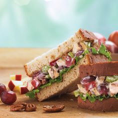 Arby's uses fresh ingredients like crunchy pecans, crisp apples and juicy grapes to take a chicken salad sandwich from Good to Gourmazing