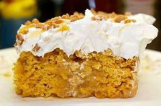❥ Better Than Sex Pumpkin Cake???