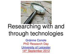 conole-tel-methodologies by Grainne Conole via Slideshare