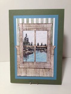 Lake Window View by karjor - Cards and Paper Crafts at Splitcoaststampers