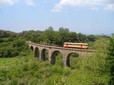 M2.212 percorre lentamente il bellissimo viadotto di San Giorgio Morgeto, diretta a Gioia Tauro (Fonte ferroviadellacalabria.it)