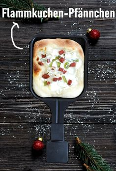 Flammkuchen Pfännchen Raclette, Klassiker, super Teig, auch für Pizza nutzbar