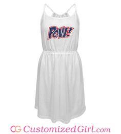 Pow! Fireworks custom dress from Customized Girl