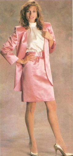 Untitled Vintage Skirt, Vintage Denim, Vintage Dresses, Retro Outfits, Vintage Outfits, 1940s Fashion, Vintage Fashion, Satin Bluse, Mode Vintage