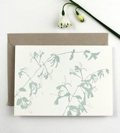 Honeysuckle Letterpress Note Card Set | They look like the real thing because they're made from the re... | Greeting Cards