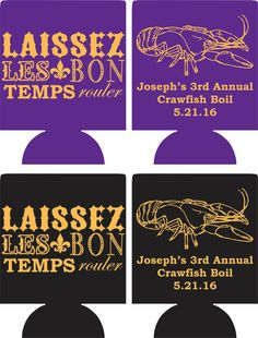 Crawfish Boil Can Coolers design by odysseycustomdesigns on Etsy