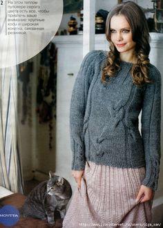 Серый пуловер с косами.. Обсуждение на LiveInternet - Российский Сервис Онлайн-Дневников