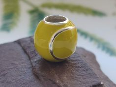 Silver Tennis Ball Charm Silver Apples, Tennis, Charms, Silver Rings, Sterling Silver, Unique Jewelry, Handmade Gifts, Sports, Etsy
