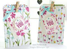 Stampin' Up! UK Painted Blooms Mini Treat Bag Tip Tutorial