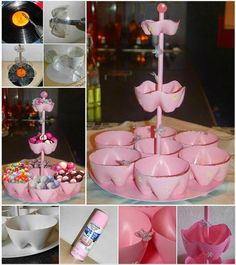 Ideas & Products: Plastic Bottle Candy Stand     I love reuse when I can, I do and this is so cute.