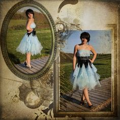 robe de soirée bleu tulle plume créatrice: Magali René-Boisneuf