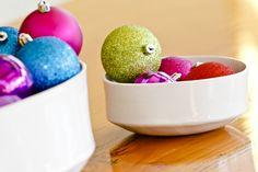 Fill them with sparkly balls!  Mini Gourd Bowls. Jill Zeidler