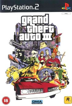 Box art by Stephen Bliss, 2001, Rockstar Games.  Stephens first box art for the series.