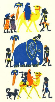 Histoire de Bass, Bassina, Boulou by Franz Hellens, illustrated by Elisabeth Ivanovsky (1936)