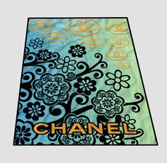 Chanel Logo Gold Chanel Blanket cheap and best quality. *100% money back guarantee
