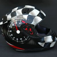 """We have no speed limits!""  Race speed theme airbrush on motorcycle helmet  Source: www.aerografit.pl"