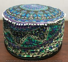 Ottomans & Footstools Large Ombre Mandala Ottoman Pouf Ethnic Round Pouf Footstool Floor Pouf Cover And To Have A Long Life.