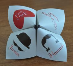 Hey, I found this really awesome Etsy listing at https://www.etsy.com/listing/183638003/cootie-catcher-wedding-invitation-fully