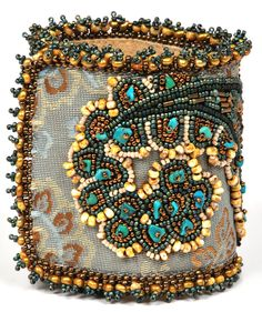 BEADED Cuff Bracelet via Etsy.